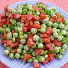 火腿粒炒豌豆