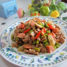 黄豆火腿炒瘦肉