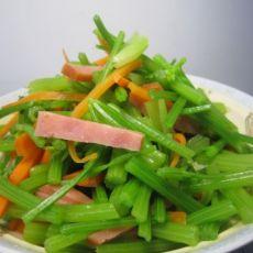 鲜拌芹菜火腿丝
