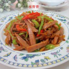 双椒火腿炒米虾