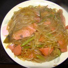 火腿芹菜粉条