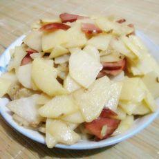 火腿炒土豆片