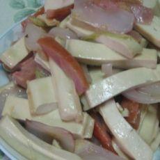 鲜豆干火腿炒洋葱片