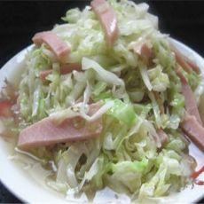 包菜丝炒火腿的做法