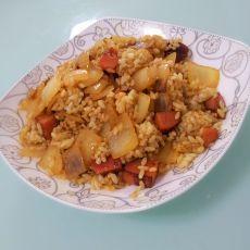 洋葱火腿咖喱炒饭
