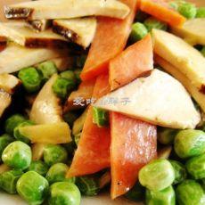 熏豆干炒火腿的做法