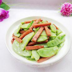 眉豆炒火腿