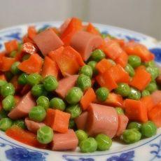 火腿炒豌豆