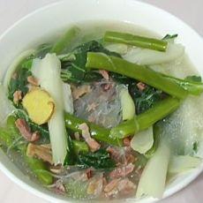 青菜火腿粉丝汤
