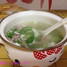 丝瓜蛋白汤