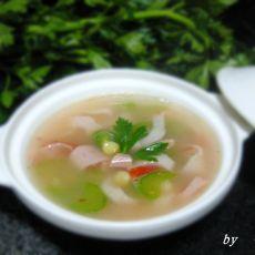 蟹味玉米芹菜浓汤