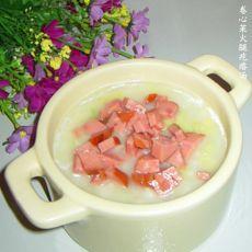 卷心菜火腿疙瘩汤的做法