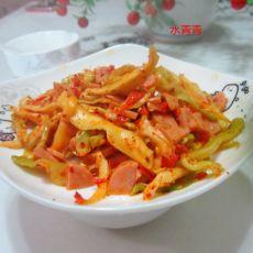 凉拌火腿榨菜丝