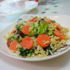 火腿菠菜炒饭