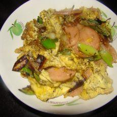 火腿炒虫子鸡蛋