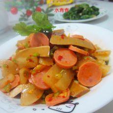 酸咸萝卜拌豆腐