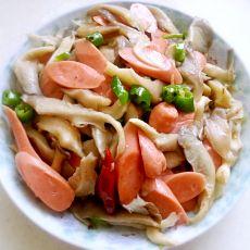 平菇炒火腿