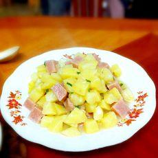 土豆炒火腿