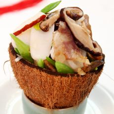 椰肉香肠炒年糕