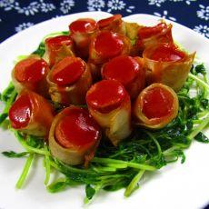 杏鲍菇香肠卷