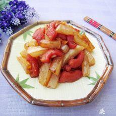 干煸香肠萝卜条的做法