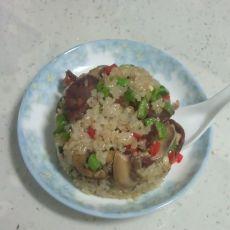 香肠蘑菇炒糯米饭