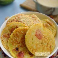 南瓜香肠鸡蛋饼的做法