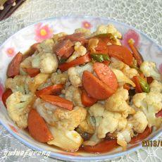 菜花炒香肠
