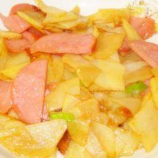 土豆片炒香肠