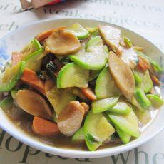 杏鲍菇角瓜炒香肠