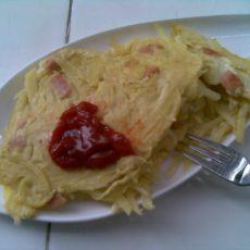 土豆丝香肠鸡蛋饼