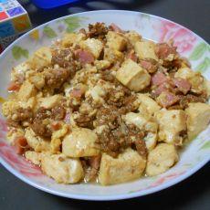 香肠肉末豆腐