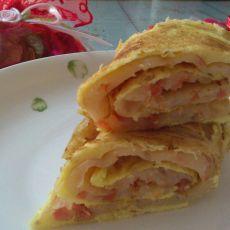 番茄蛋卷饼