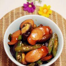 香菇炒香肠
