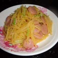 土豆丝炒香肠