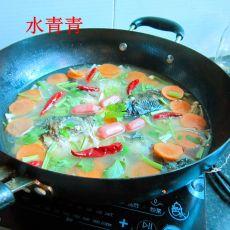 鱼头素菜火锅