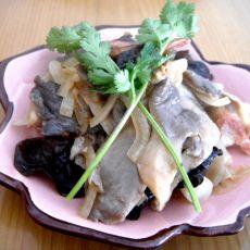 洋葱炒平菇