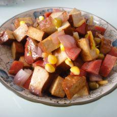 玉米香肠炒豆干
