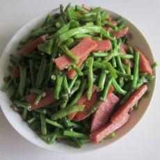 香肠炒缸豆