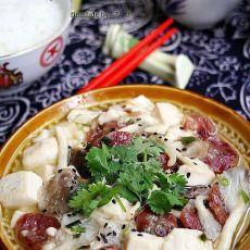 平菇香肠烧豆腐