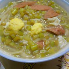 蒜苔香肠炝锅面