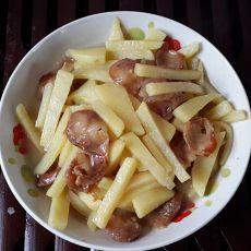 香肠焖土豆