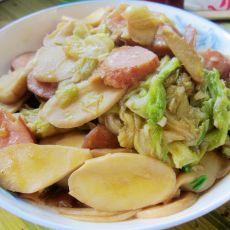 蚝油白菜杏鲍菇