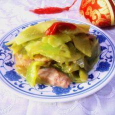 香肠炒莴笋