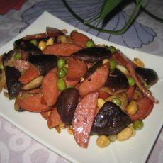 香菇双豆炒香肠