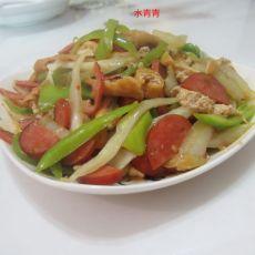 香肠油豆腐白菜丝的做法