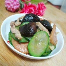 香菇肉丝黄瓜片的做法