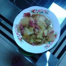 香肠炒冬瓜的做法