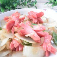 青椒洋葱炒香肠