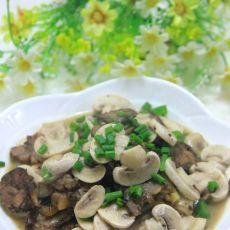 香肠炒口蘑